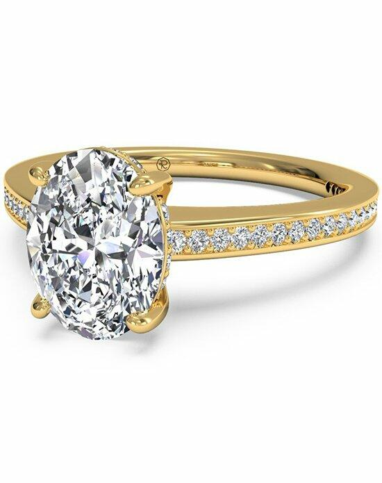 Ritani Oval Cut Diamond Micropave Band Engagement Ring in 18kt Yellow Gold (0.20 CTW) Engagement Ring photo