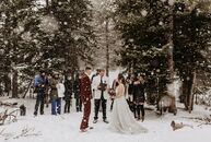 """Robert """"Robbie"""" Sittema (27 and an industrial engineer) and Brogan Sittema (28 and a human resources supervisor) eloped as snowflakes fell in Ward, Co"""