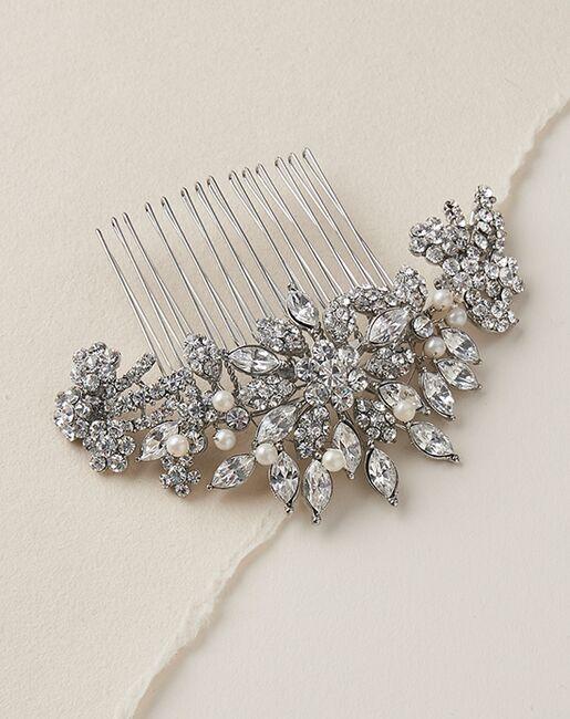 Dareth Colburn Alexa Pearl & Rhinestone Comb (TC-2228) Gold, Silver Pins, Combs + Clip