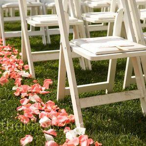Rose Petal Ceremony Decor