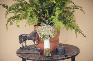 Natural Lavender and Scabiosa Bouquet