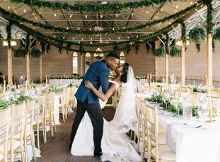 """Busola and Tolu """"wanted our day to be such a special day for our friends and family. We wanted our family and friends to have a unique wedding experie"""