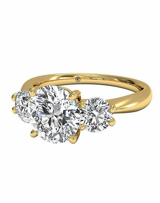 Ritani Round Cut Three-Stone Diamond Engagement Ring in 18kt Yellow Gold (0.50 CTW) Engagement Ring photo