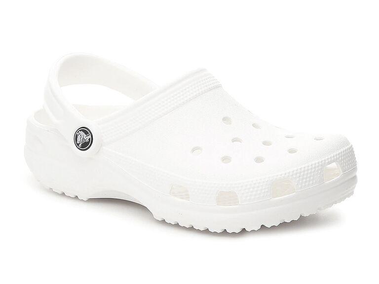 dsw white crocks bride slippers