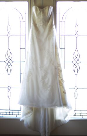A-Line Lace Overlay Wedding Dress