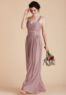 Birdy Grey Elsye Mesh Dress in Mauve Sweetheart Bridesmaid Dress