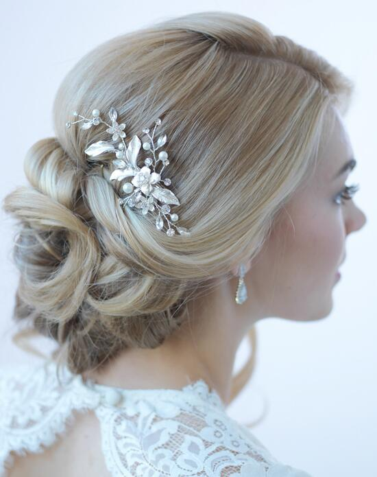 USABride Petite Pearl & Floral Bridal Clip Wedding Pins, Combs + Clips photo