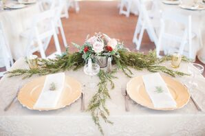 Romantic Sweetheart Table with Pale Yellow Chargers