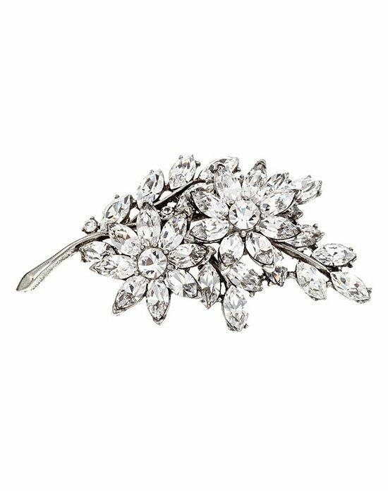 Thomas Laine Bridal Crystal Flower Pin Wedding  photo