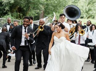 For their wedding at Willow Ballroom in Hood, California, Curissa Watts (28, Budget Analyst & Blogger) and Brandyn Thompson (29, Owner of DB Select, a