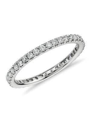 Blue Nile 33763 White Gold Wedding Ring