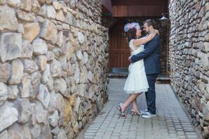 Couple Embracing in Stone Alleyway