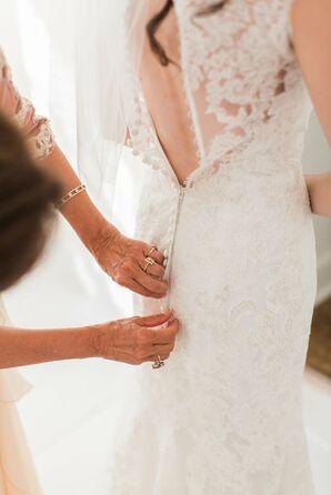 Ivory Lace Kenneth Winston Wedding Dress
