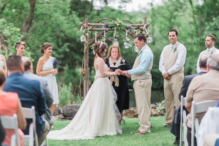 Emily and Ben were married by Ben's godmother in a heartfelt ceremony.