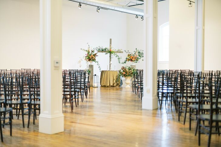 Simple Ceremony Decor at 701 Whaley in Columbia, South Carolina