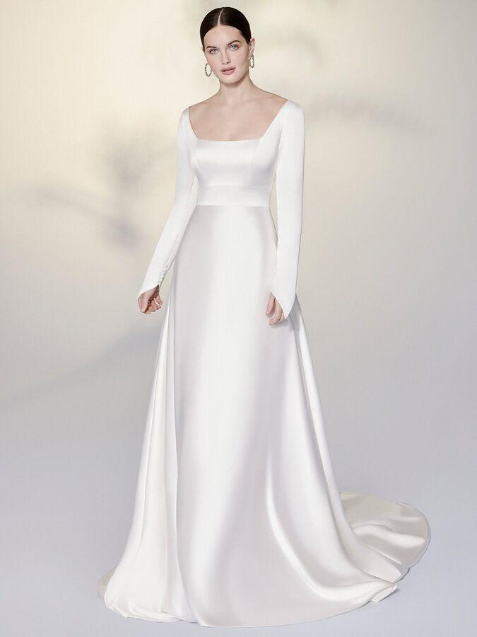 Justin Alexander Signature charmeuse A-line wedding dress