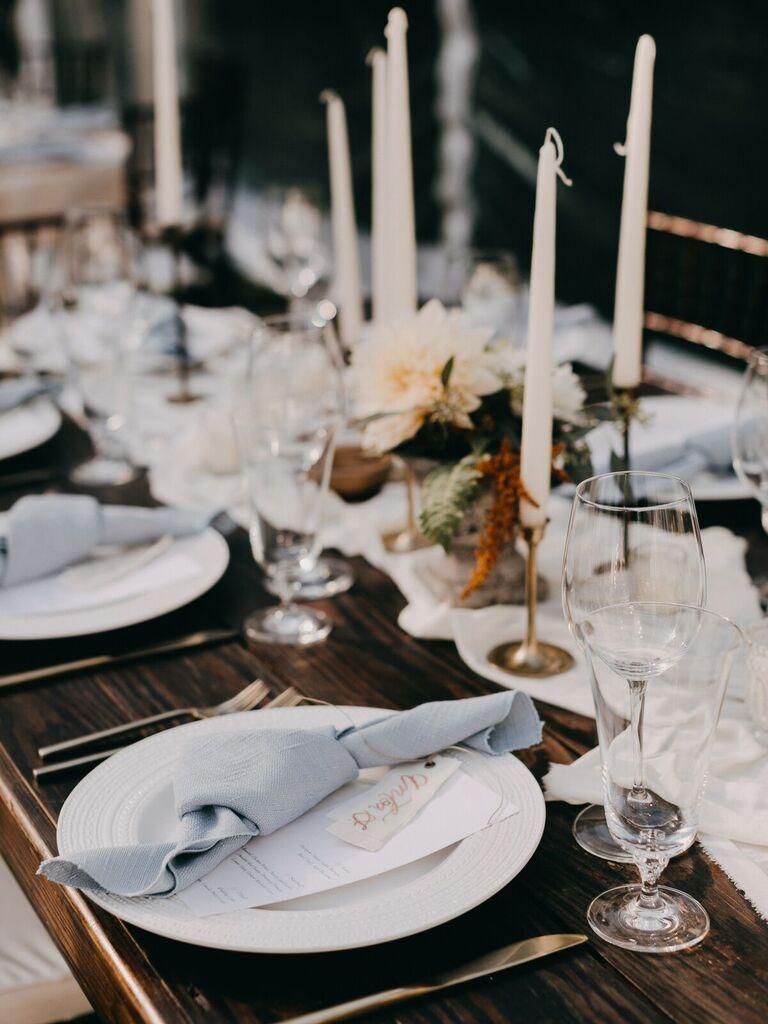 Fall wedding ideas light and bright decor