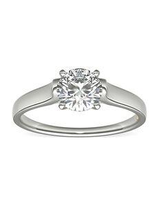 Truly Zac Posen Round Cut Engagement Ring