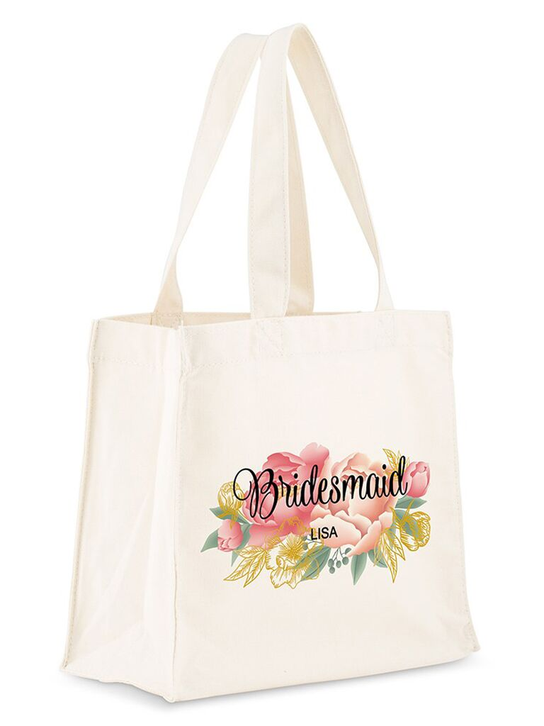 Bridesmaid proposal gift personalized tote bag