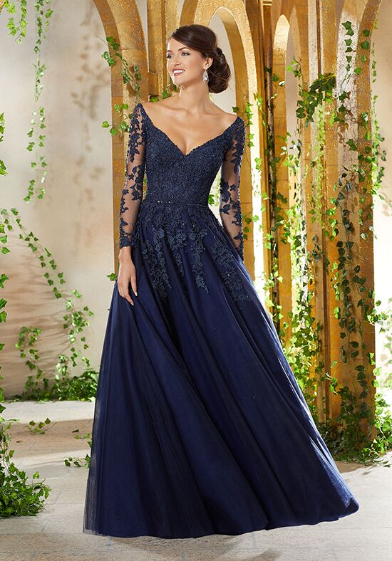 MGNY 71935 Blue,Champagne,Red Mother Of The Bride Dress