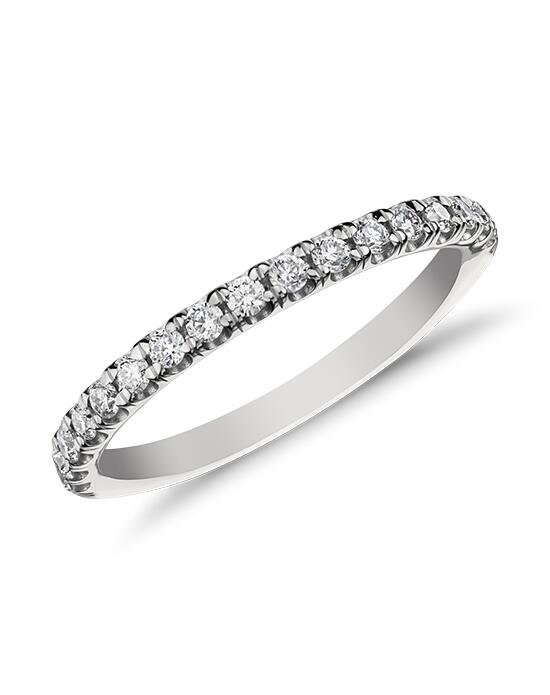 Monique Lhuillier Fine Jewelry French Pave Diamond Ring Wedding Ring photo