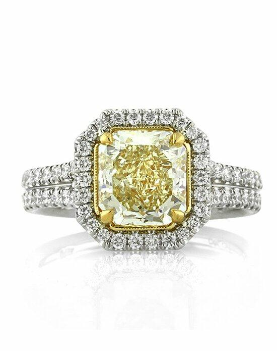 Mark Broumand 2.93ct Fancy Light Yellow Radiant Cut Diamond Engagement Ring Engagement Ring photo
