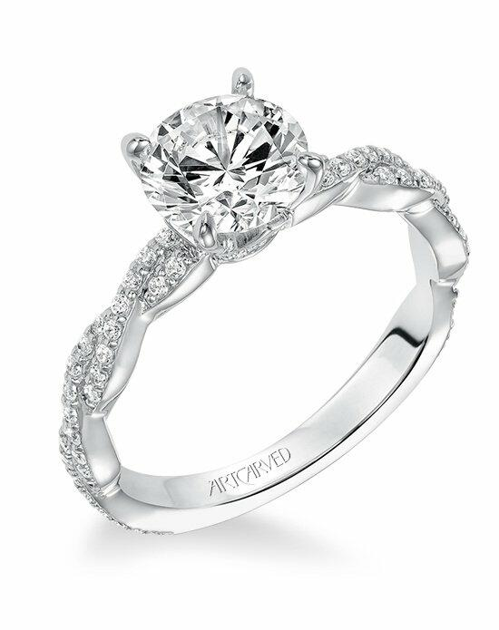 ArtCarved 31-V575GRW Engagement Ring photo