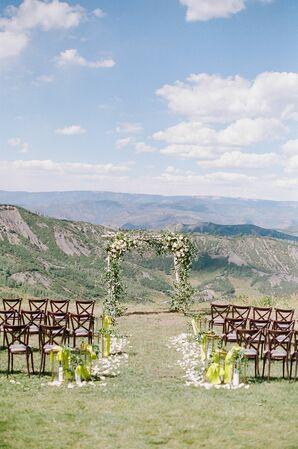 Mountainview Wedding Ceremony at Lynn Britt Cabin in Aspen, Colorado