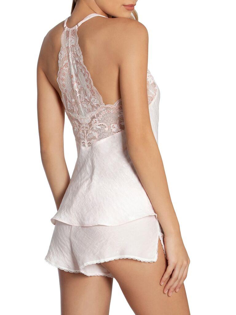 White silky honeymoon lingerie