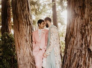 """John and Tanay threw a celebration with one foot in the past and the other decidedly in the present. """"We wanted our wedding to be a fusion of both our"""
