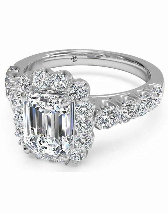 Ritani Emerald Cut Masterwork Halo Diamond Band Engagement Ring in Platinum (0.75 CTW) Engagement Ring photo