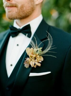 Toffee-Hued Boutonniere in San Diego, California