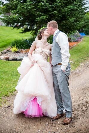 Bold Fuchsia Crinoline Wedding Dress Underlay