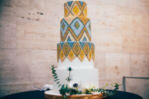 Colorful Wedding Cake at Detroit Institute of Arts in Detroit, Michigan