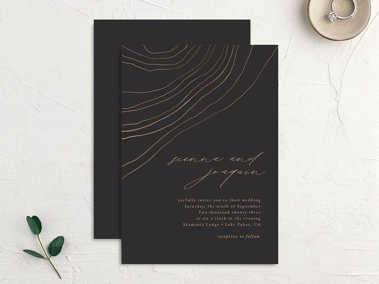 personalized wedding invitations black wedding invites