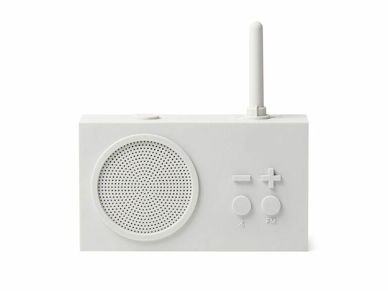 shower radio speaker white