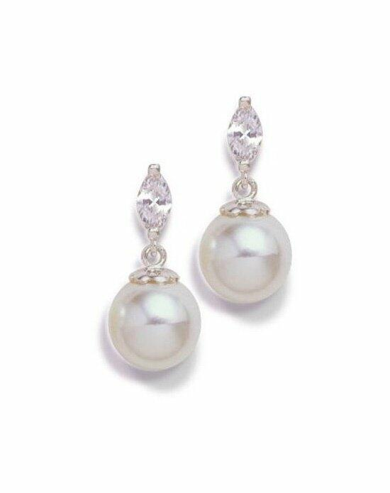 Anna Bellagio LENORA CUBIC ZIRCONIA AND PEARL EARRINGS Wedding Earrings photo