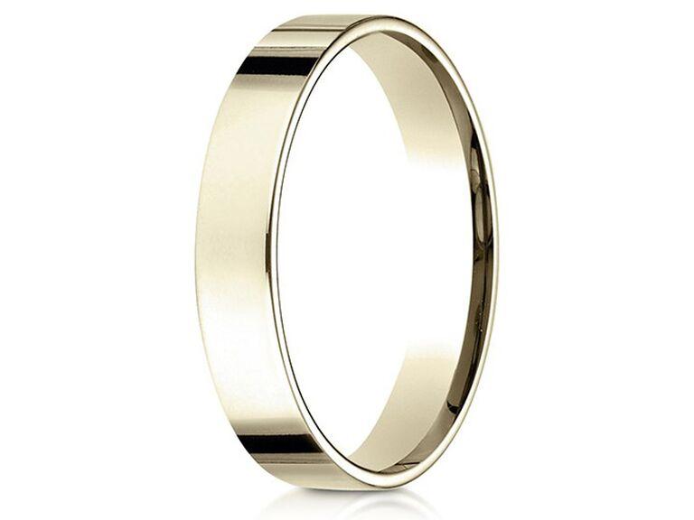 Marissa Perry flat comfort fit 18-karat yellow gold wedding ring