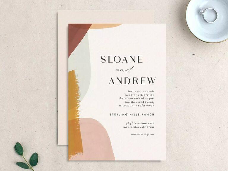 free wedding invitations watercolor design