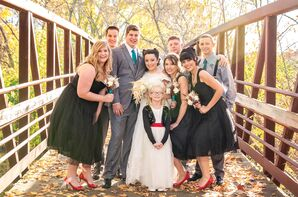 Retro Wedding Party in Pin-Up Dresses and Suspenders