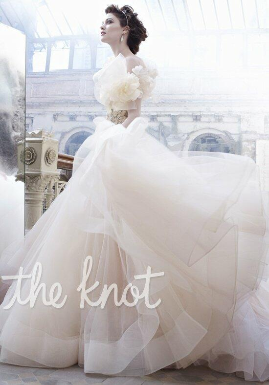 Lazaro 3301 wedding dress the knot for Wedding dresses the knot