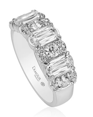 Christopher Designs L203-3-100 White Gold Wedding Ring