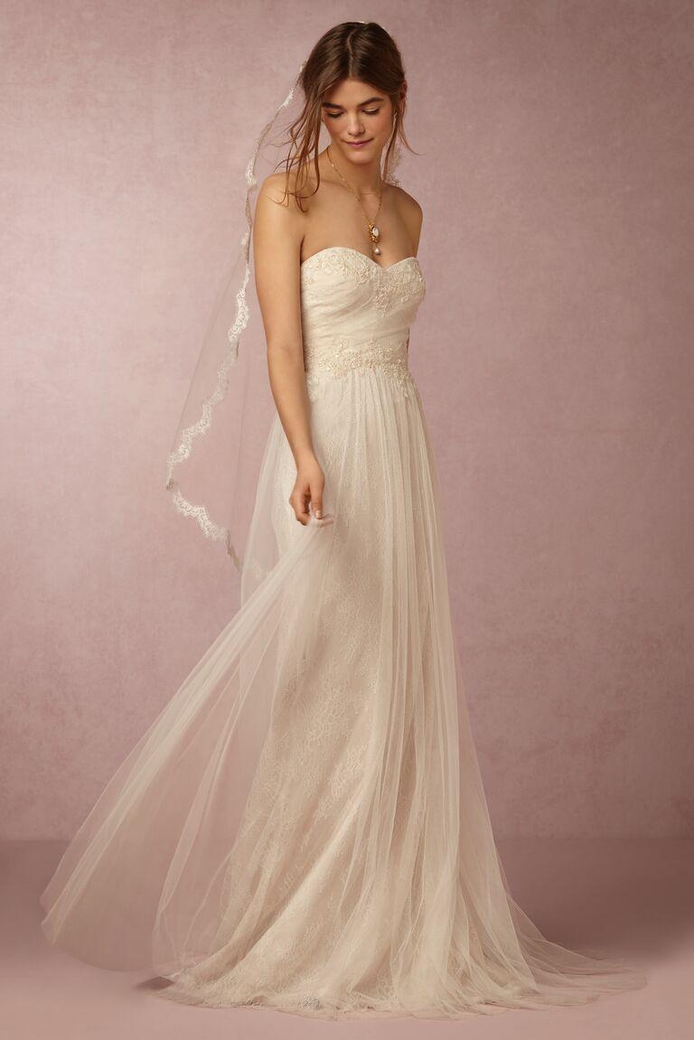 Marchesa Notte x BHLDN tulle wedding dress
