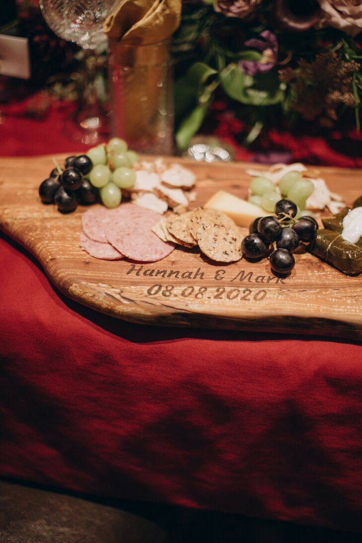 Guests Enjoyed Cheese Boards During the Wedding Reception