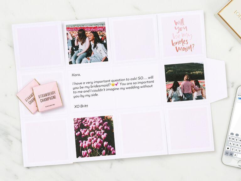 Custom bridesmaid proposal box bridesmaid gift under $20