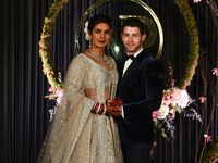 Priyanka Chopra and Nick Jonas at Reception