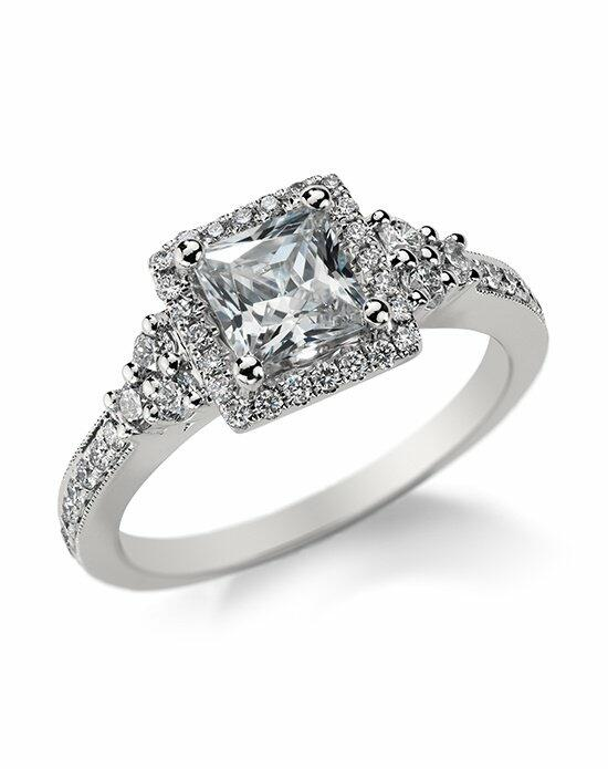Monique Lhuillier Fine Jewelry Princess Cut Halo Diamond Engagement Ring Engagement Ring photo