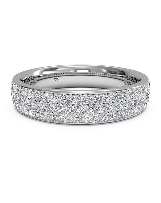 Ritani Women's Triple Micropave Diamond Wedding Band - in 14kt White Gold - (0.70 CTW) Wedding Ring photo