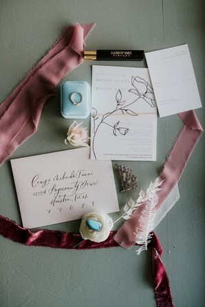 Invitations for Wedding at The Space HTX in Houston, Texas