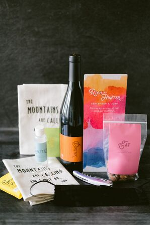 Colorful Welcome Box Amenities